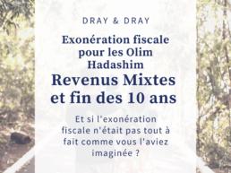 Exoneration d'impôts pour les olim