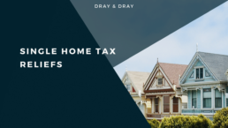 Single home tax reliefs